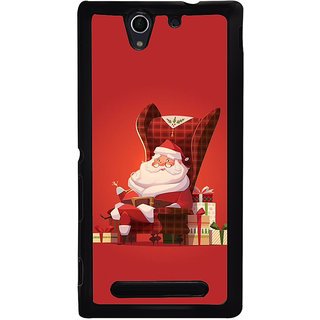 Ayaashii Santa Claus With Gifts Back Case Cover for Sony Xperia C3 Dual D2502::Sony Xperia C3 D2533