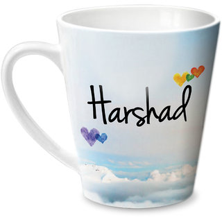 Hot Muggs Simply Love You Harshad Conical Ceramic Mug 350ml