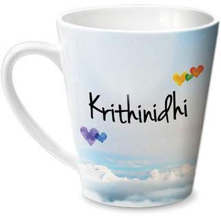 Hot Muggs Simply Love You Krithinidhi Conical Ceramic Mug 350ml