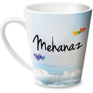 Hot Muggs Simply Love You Mehanaz Conical Ceramic Mug 350ml