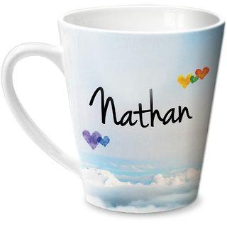 Hot Muggs Simply Love You Nathan Conical Ceramic Mug 350ml
