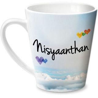 Hot Muggs Simply Love You Nisyaanthan Conical Ceramic Mug 350ml