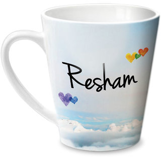 Hot Muggs Simply Love You Resham Conical Ceramic Mug 350ml