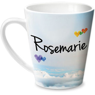 Hot Muggs Simply Love You Rosemarie Conical Ceramic Mug 350ml
