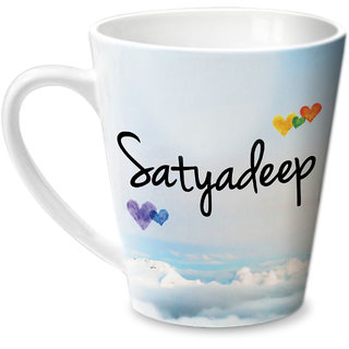 Hot Muggs Simply Love You Satyadeep Conical Ceramic Mug 350ml