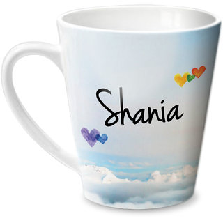 Hot Muggs Simply Love You Shania Conical Ceramic Mug 350ml