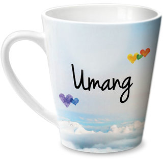 Hot Muggs Simply Love You Umang Conical Ceramic Mug 350ml