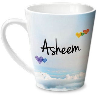 Hot Muggs Simply Love You Asheem Conical Ceramic Mug 350ml