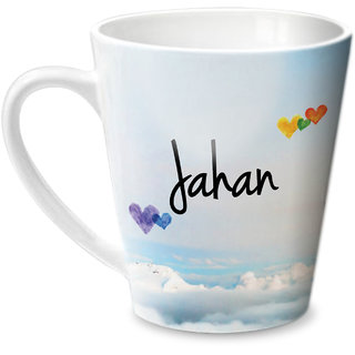 Hot Muggs Simply Love You Jahan Conical Ceramic Mug 350ml
