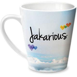 Hot Muggs Simply Love You Jakarious Conical Ceramic Mug 350ml