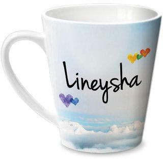 Hot Muggs Simply Love You Lineysha Conical Ceramic Mug 350ml