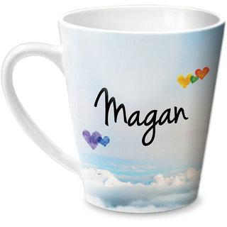 Hot Muggs Simply Love You Magan Conical Ceramic Mug 350ml