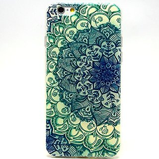 iPhone 6 Case, iPhone 6 (4.7 Inch) Case - LUOLNH Fashion Style Colorful Painted Green Flower TPU Case Back Cover Protect