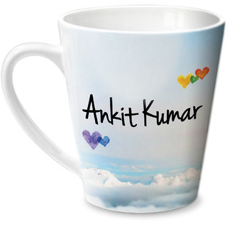 Hot Muggs Simply Love You Ankit Kumar Conical Ceramic Mug 350ml