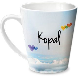 Hot Muggs Simply Love You Kopal Conical Ceramic Mug 350ml