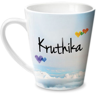 Hot Muggs Simply Love You Kruthika Conical Ceramic Mug 350ml