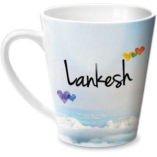 Hot Muggs Simply Love You Lankesh Conical Ceramic Mug 350ml