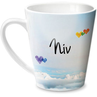 Hot Muggs Simply Love You Niv Conical Ceramic Mug 350ml