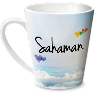 Hot Muggs Simply Love You Sahaman Conical Ceramic Mug 350ml