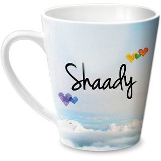 Hot Muggs Simply Love You Shaady Conical Ceramic Mug 350ml