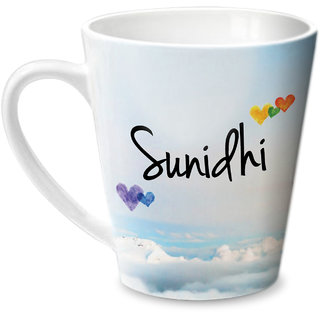 Hot Muggs Simply Love You Sunidhi Conical Ceramic Mug 350ml