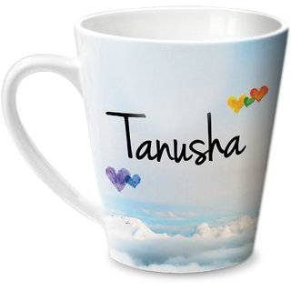 Hot Muggs Simply Love You Tanusha Conical Ceramic Mug 350ml
