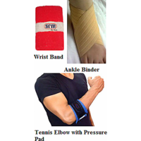 SRM ( Best Health ) Tennis Elbow With Pressure Pad, Ankle Binder, Wrist Band