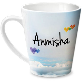 Hot Muggs Simply Love You Anmisha Conical Ceramic Mug 350ml