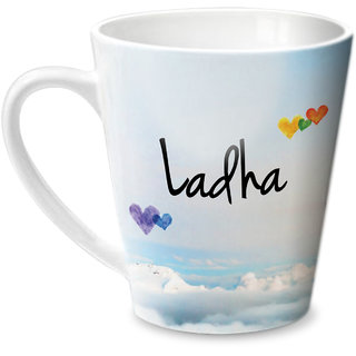 Hot Muggs Simply Love You Ladha Conical Ceramic Mug 350ml