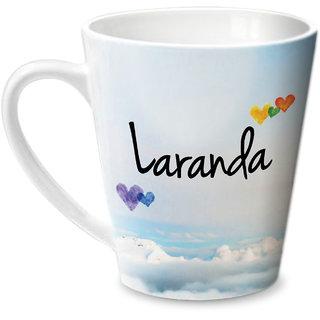 Hot Muggs Simply Love You Laranda Conical Ceramic Mug 350ml
