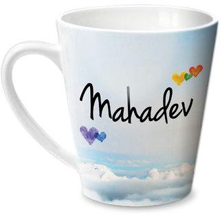Hot Muggs Simply Love You Mahadev Conical Ceramic Mug 350ml
