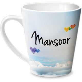 Hot Muggs Simply Love You Mansoor Conical Ceramic Mug 350ml