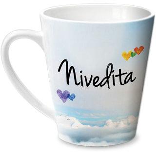 Hot Muggs Simply Love You Nivedita Conical Ceramic Mug 350ml
