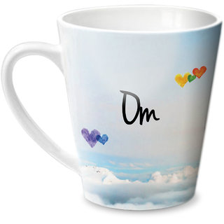 Hot Muggs Simply Love You Om Conical Ceramic Mug 350ml