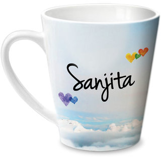 Hot Muggs Simply Love You Sanjita Conical Ceramic Mug 350ml