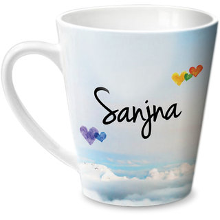 Hot Muggs Simply Love You Sanjna Conical Ceramic Mug 350ml