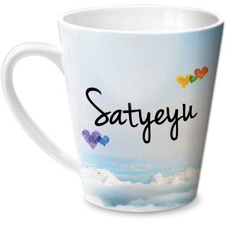 Hot Muggs Simply Love You Satyeyu Conical Ceramic Mug 350ml