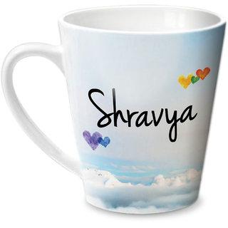 Hot Muggs Simply Love You Shravya Conical Ceramic Mug 350ml