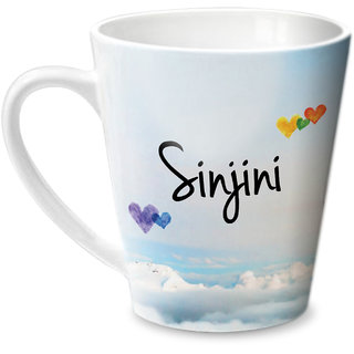 Hot Muggs Simply Love You Sinjini Conical Ceramic Mug 350ml
