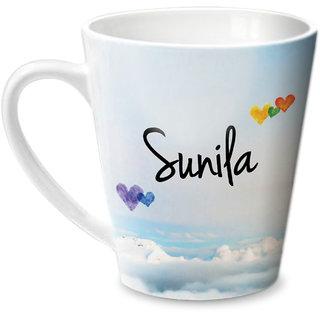 Hot Muggs Simply Love You Sunila Conical Ceramic Mug 350ml