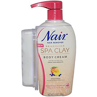 Nair Brazilian Spa Clay Body Cream, 13 Oz