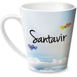 Hot Muggs Simply Love You Santavir Conical Ceramic Mug 350ml