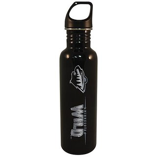 NHL Minnesota Wild 750-ml Stainless Water Bottle (Black)