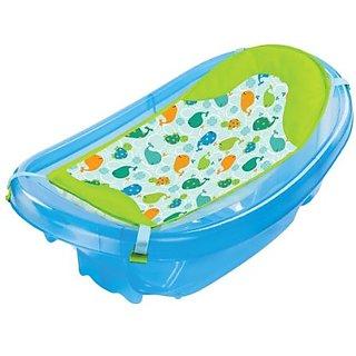Summer Infant Sparkle N Splash Newborn To Toddler Bath Tub, Blue