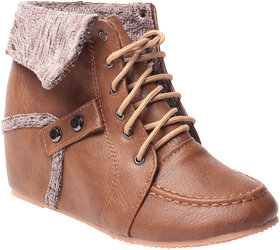 MSC-ANKLE LENGTH-BROWN BOOTS (MSC-RR81-A29-9-BROWN BOOTS)