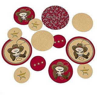 Little Cowboy - Western Party Table Confetti - 27 Count