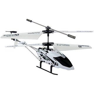 Mini 3.5-Ch Metal Infrared Helicopter w Gyro - White
