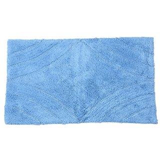 Castle Hill Bath Mat with Spray Latex Backing, Diamond Design, 17 by 24-Inch, Medium Blue