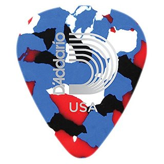 Planet Waves Multi-Color Celluloid Guitar Picks, 25 pack, Medium