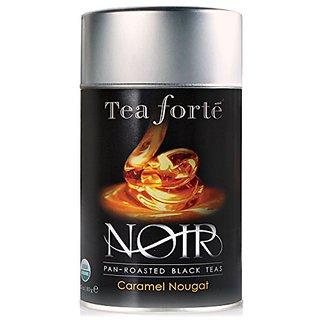 Tea Forte Noir CARAMEL NOUGAT Organic Loose Leaf Black Tea, 3.5 Ounce Tea Tin